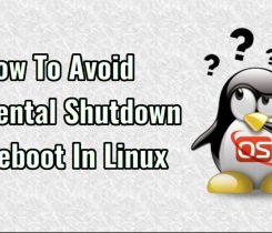 جلوگیری از خاموش شدن تصادفی و راه اندازی مجدد سیستم لینوکس